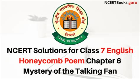 NCERT Solutions for Class 7 English Honeycomb Poem Chapter