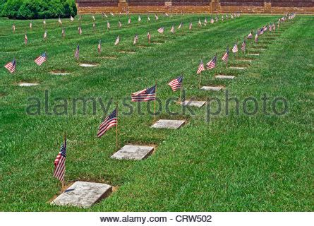 Confederate Civil War Cemetery with Flags in Frederick