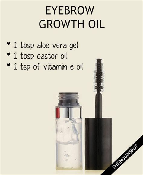 TOP 10 DIY PRODUCTS FOR FASTER AND THICKER EYEBROW GROWTH