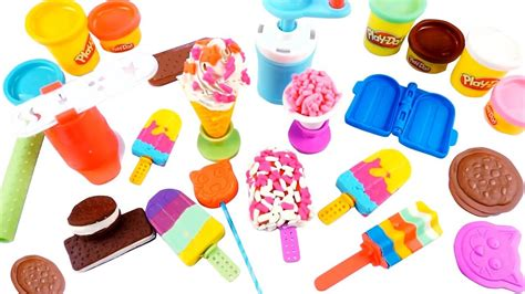 Play Doh Kitchen Creations - Frozen Treats *Learn Color