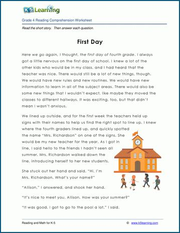 Comprehension Worksheets With Questions And Answers For