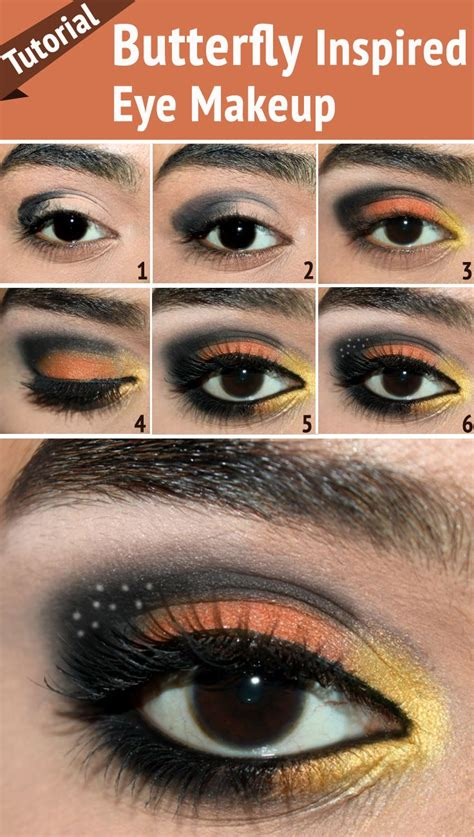 Butterfly Inspired Eye Makeup – Tutorial With Detailed