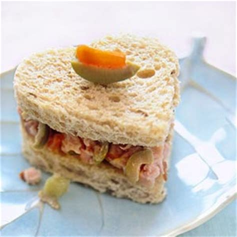 Pretty Little Tea Sandwiches with Heart   Midwest Living
