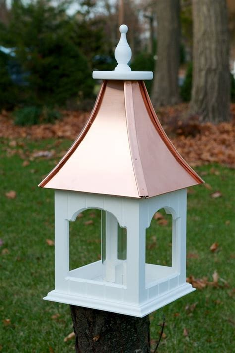 Items similar to PVC Bird feeder with Copper Roof on Etsy
