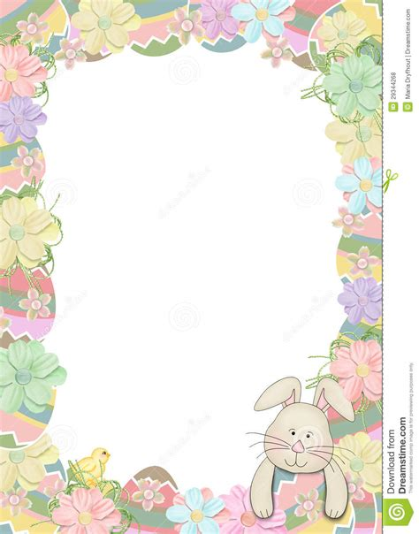 Easter Egg Border With Bunny Stock Illustration