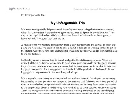 Essay on a family trip - writefiction581