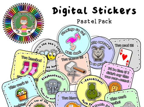 Digital Stickers [2] for Google Classroom, SeeSaw