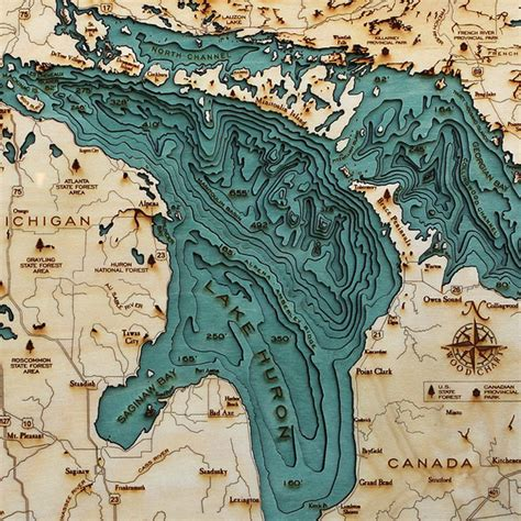 Explore the Underwater Topography of North American Lakes